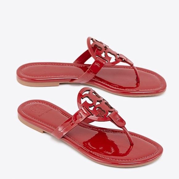 216bf45dab51b3 New Tory Burch Miller Dark Redstone Sandals Size 9